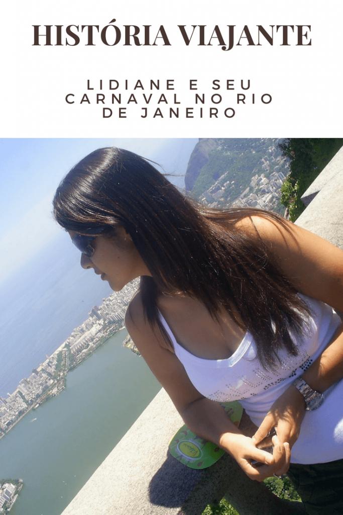 Lidiane e seu carnaval no Rio de Janeiro