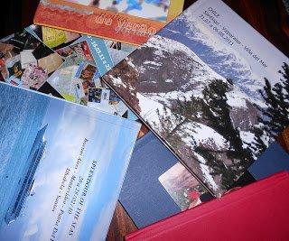 Fotos de viagens guardadas nos meus foto livros