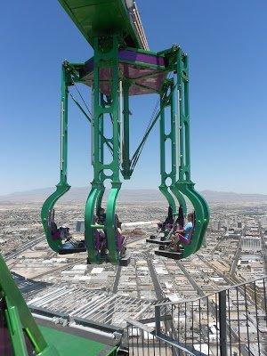 Parque de diversões no topo do Estratosfera - Las Vegas