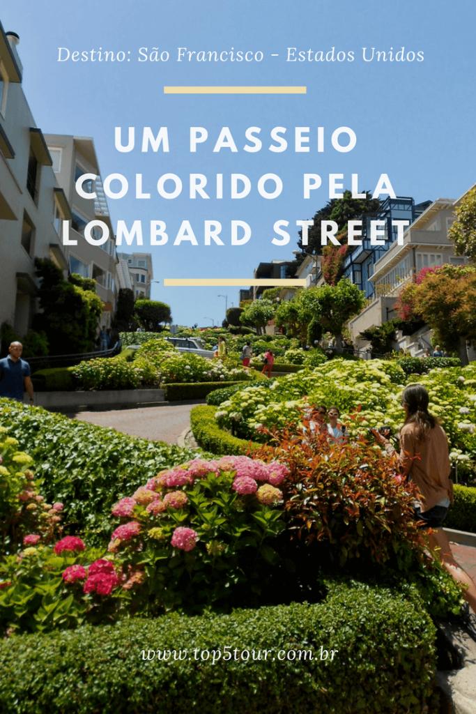 São Francisco e o passeio colorido pela Lombard Street