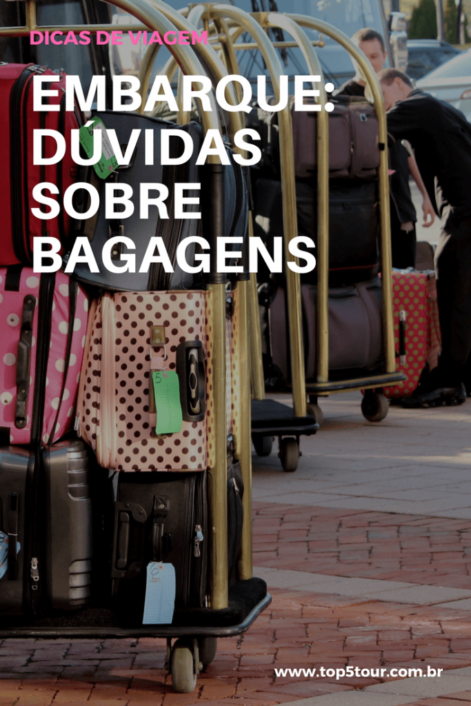 No embarque: tire as suas dúvidas sobre bagagens