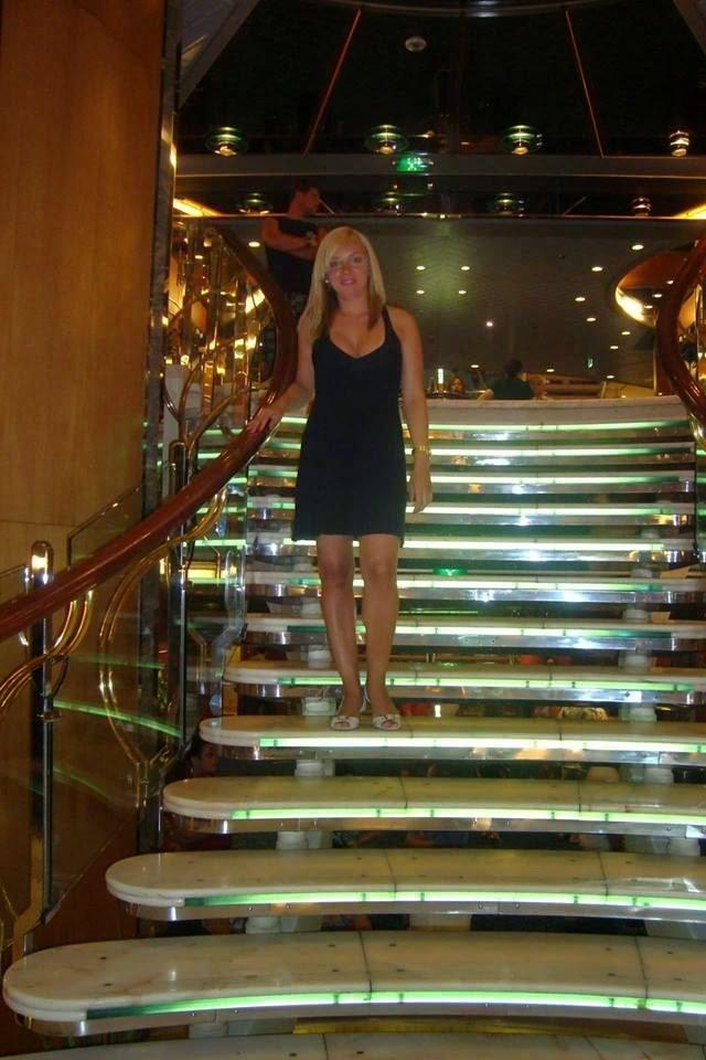 Karla durante a viagem de navio