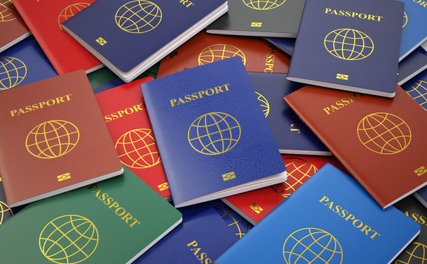 as cores do passaporte