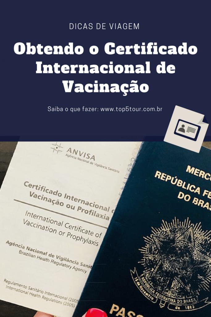 Obtendo o Certificado Internacional de Vacinação