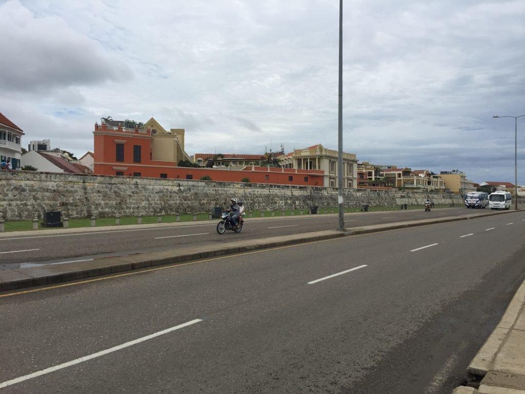 A cidade murada em Cartagena