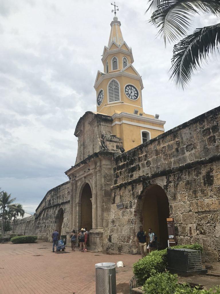 Cartagena - Torre do Relógio na cidade murada