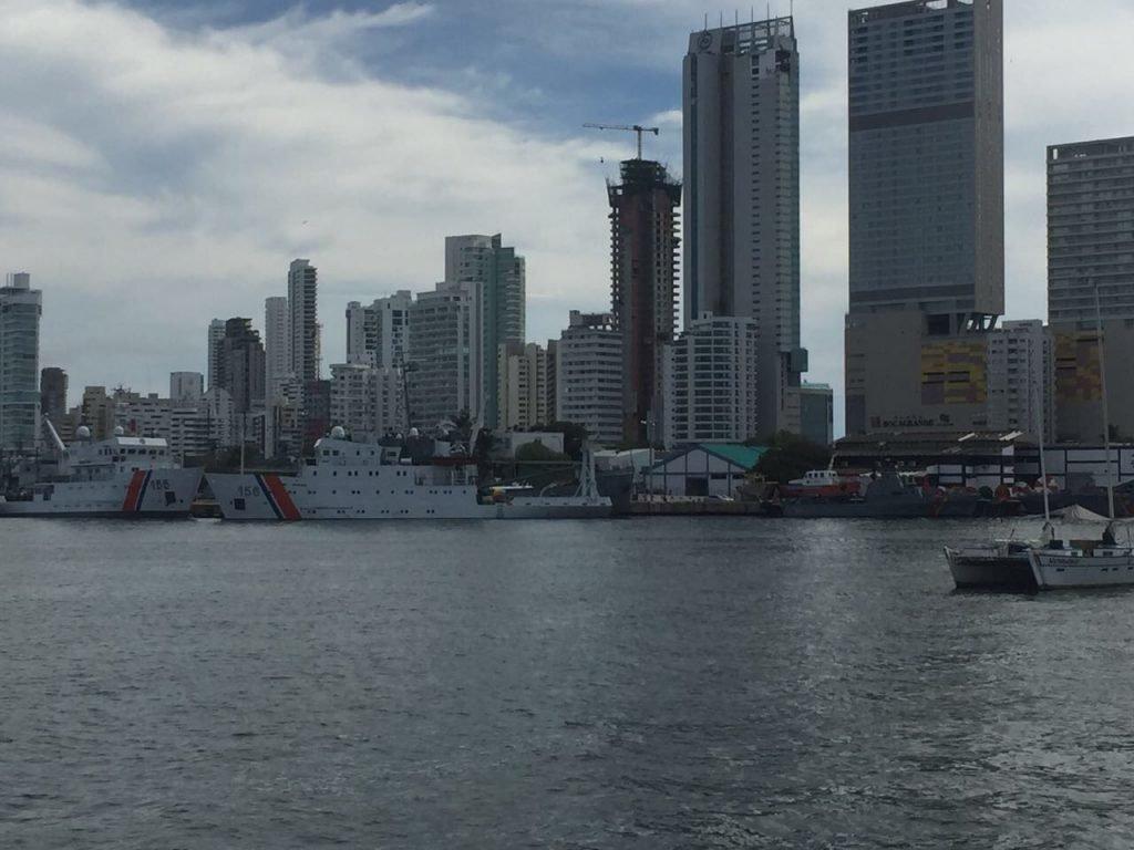 a parte moderna de Cartagena