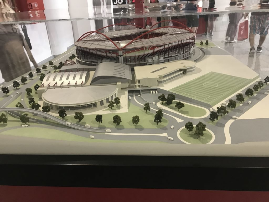 Maquete do estádio do Benfica