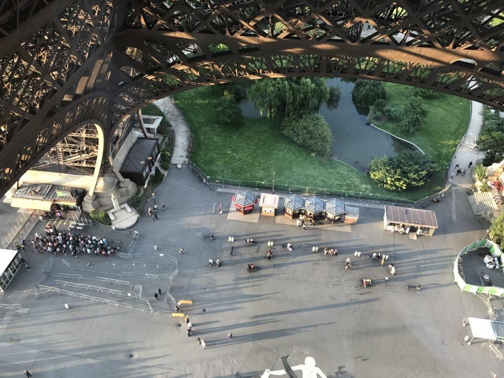 Vista do 1º andar da Torre Eiffel