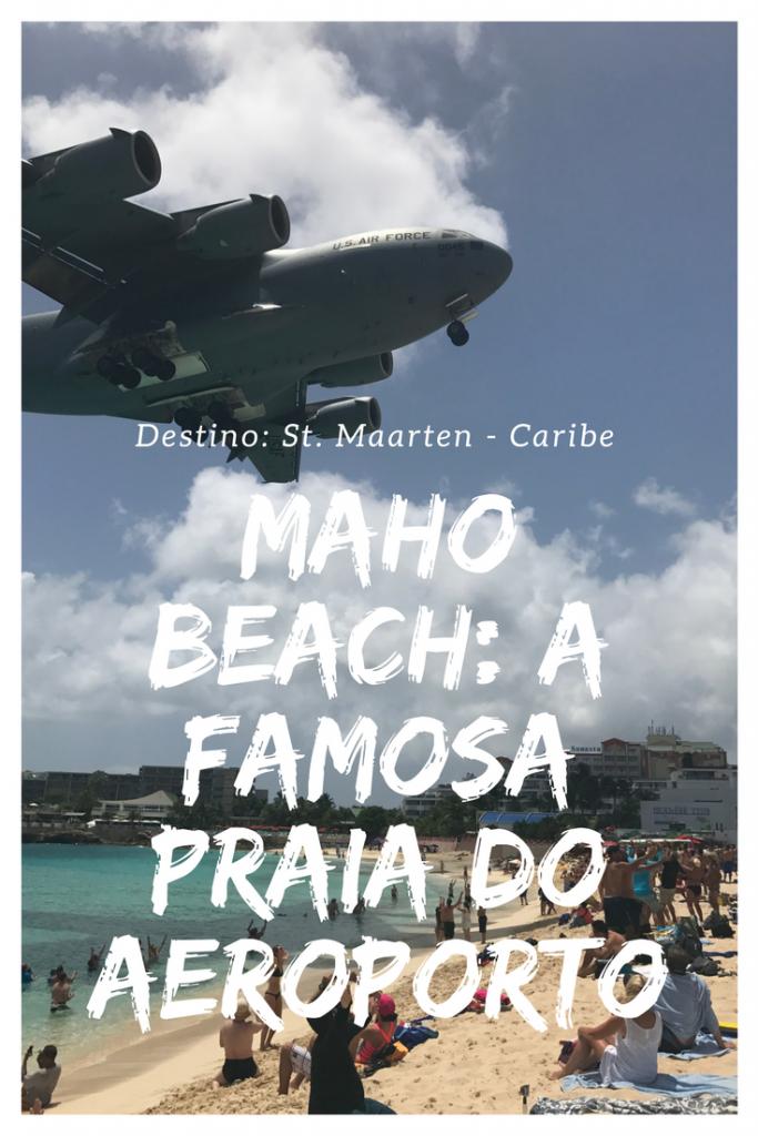 Conheça a famosa praia do aeroporto em St. Maarten, no Caribe. Maho Beach