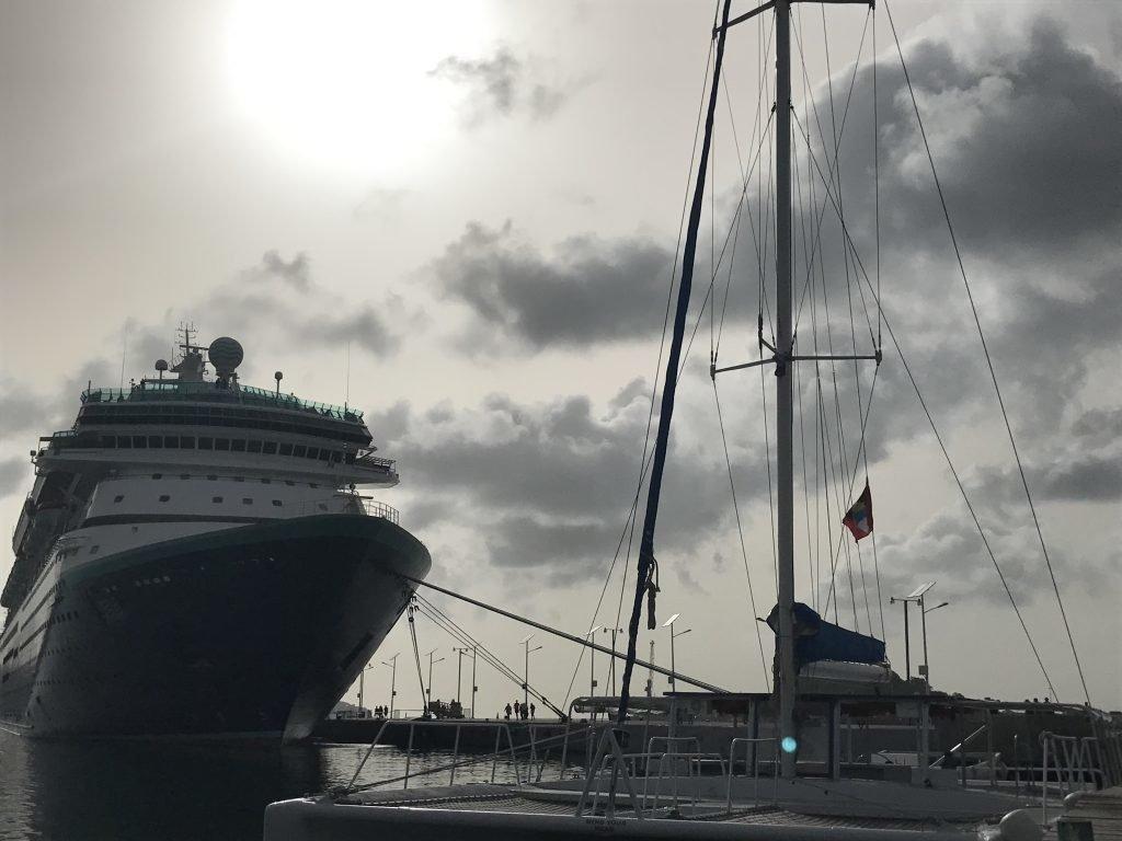 Procedimento de desembarque nas viagens de navio
