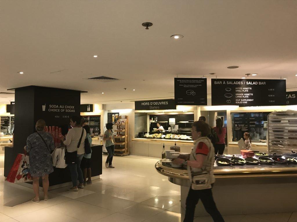Opção de restaurante na Galeria Lafayette