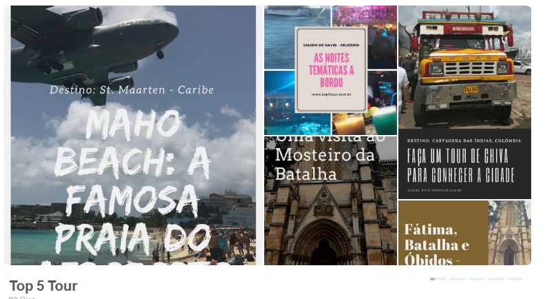 Top 5 Tour no pinterest