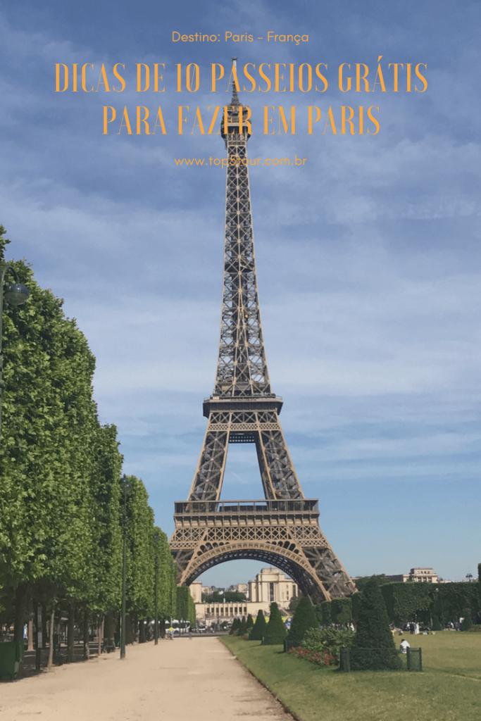10 passeios grátis em Paris