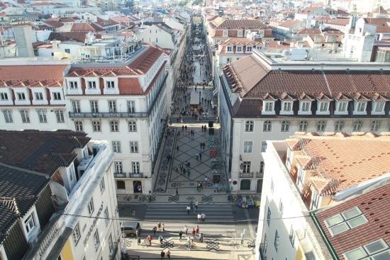 Rua Augusta vista de cima do Arco Triunfal