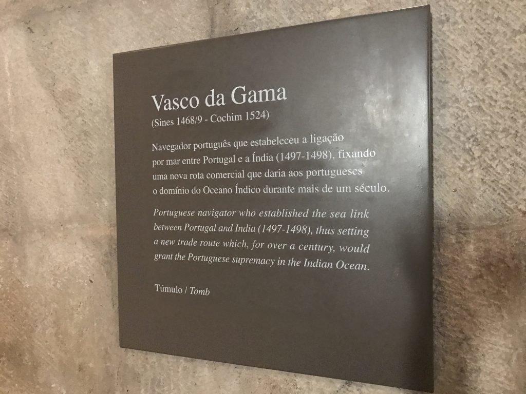 tumulo de Vasco da Gama - Mosteiro dos Jerônimos