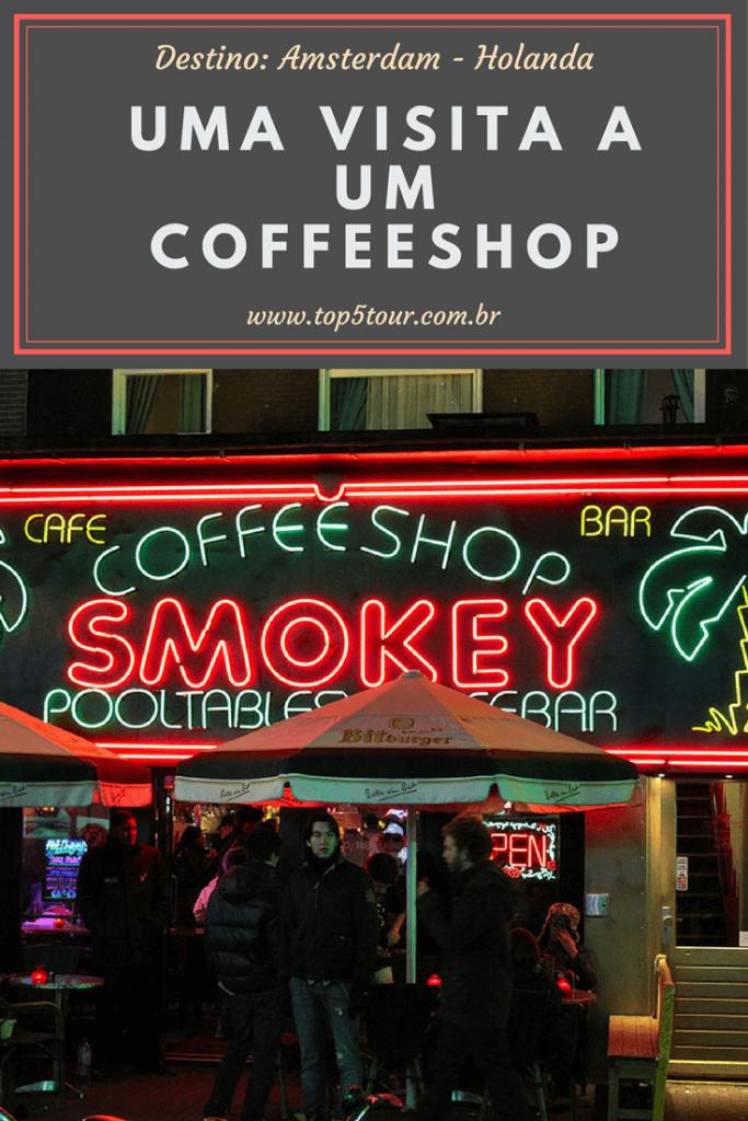 Visitando um coffeeshop em Amsterdam