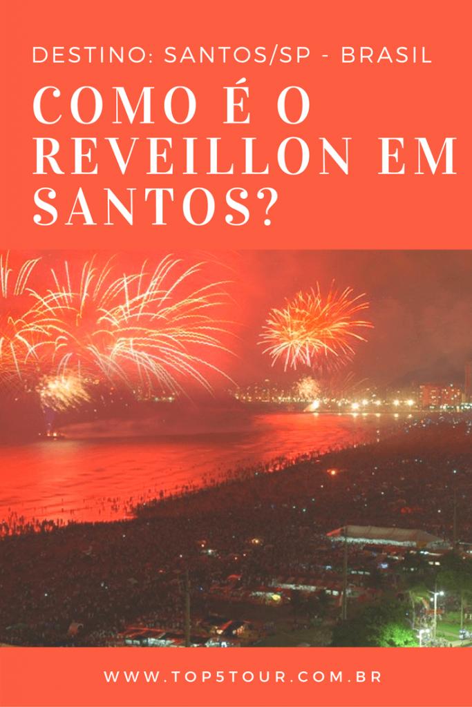 Reveillon em Santos, litoral de São Paulo
