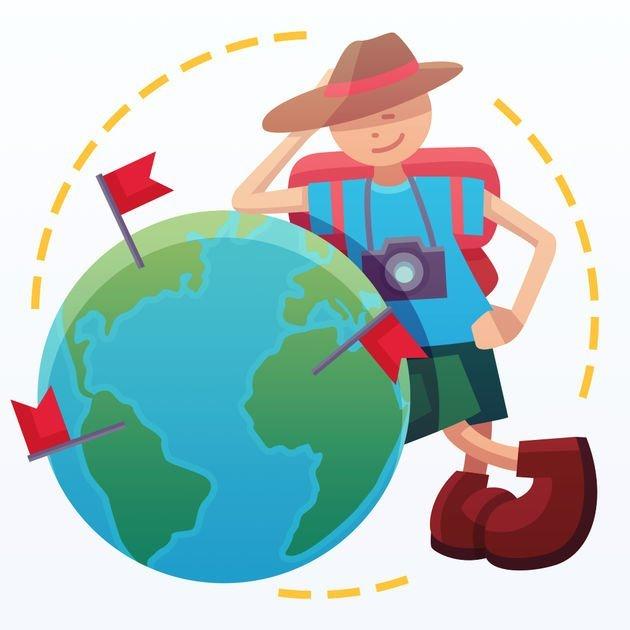 Icone app do mapa mundi