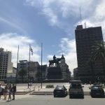 A Praça da Independência em Montevideo, capital do Uruguai