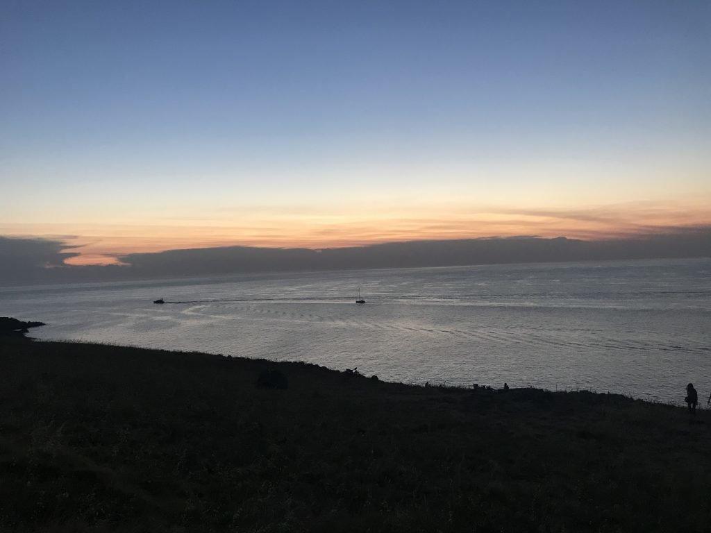 por do sol em Punta Ballena