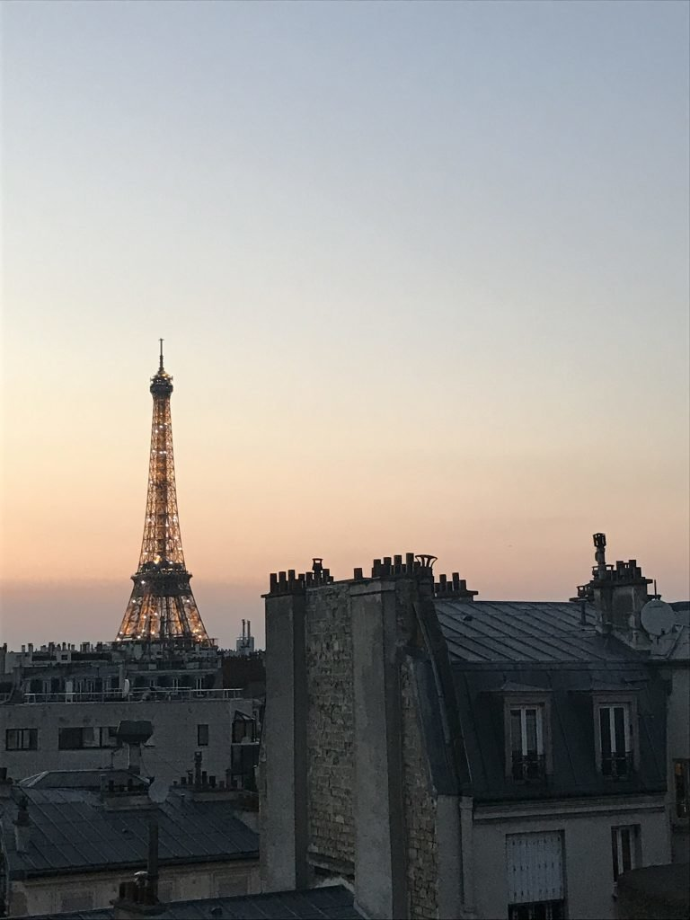 vendo a torre do hotel em paris