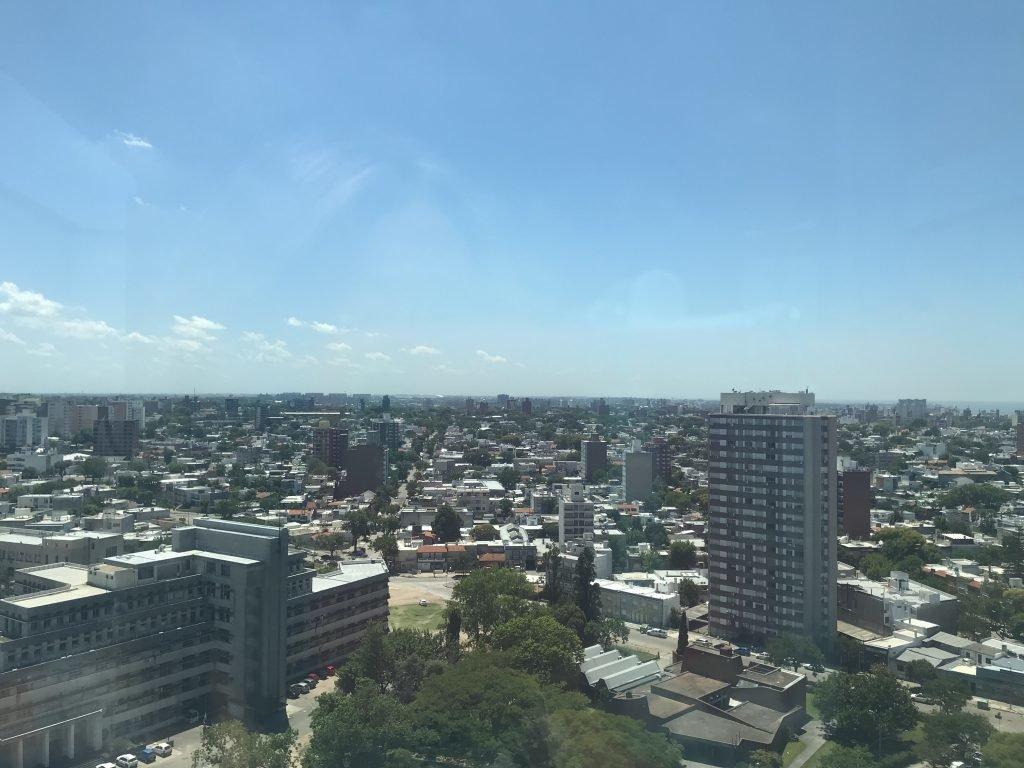 Vista de Montevideu de cima da Torre