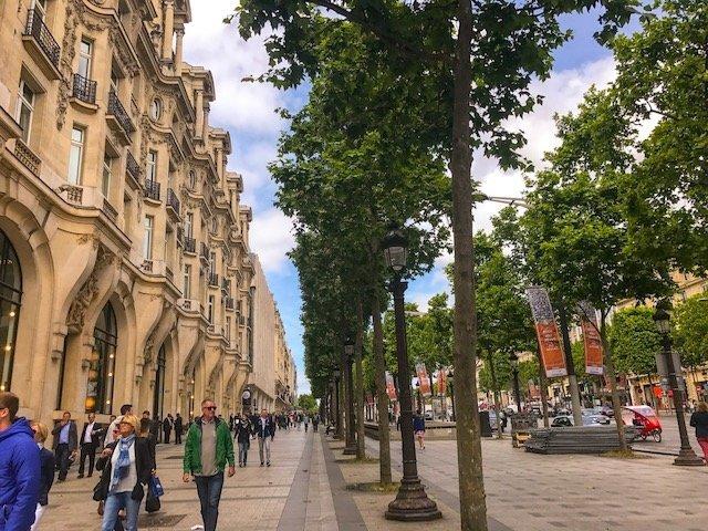 Champs Elysee em Paris