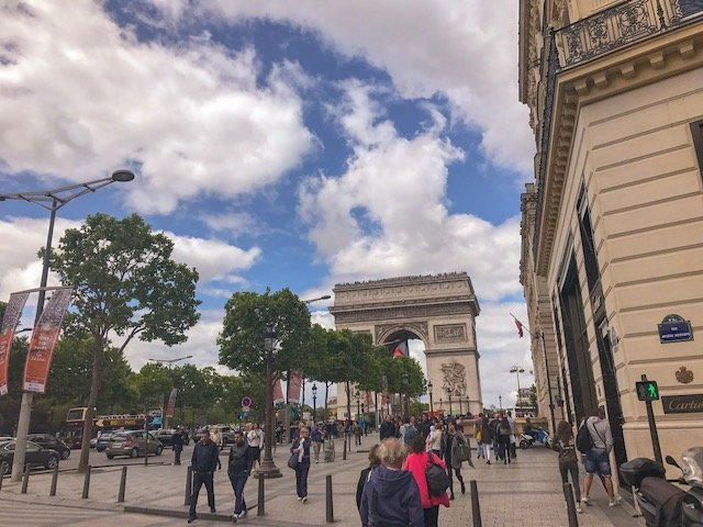 Champs Elysee e o Arco do Triunfo