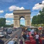 A elegante avenida Champs Elysee em Paris