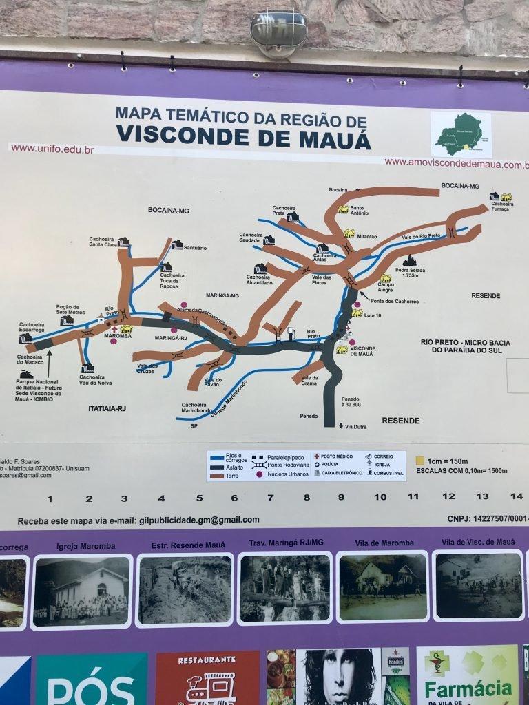 mapa da região de Visconde de Mauá