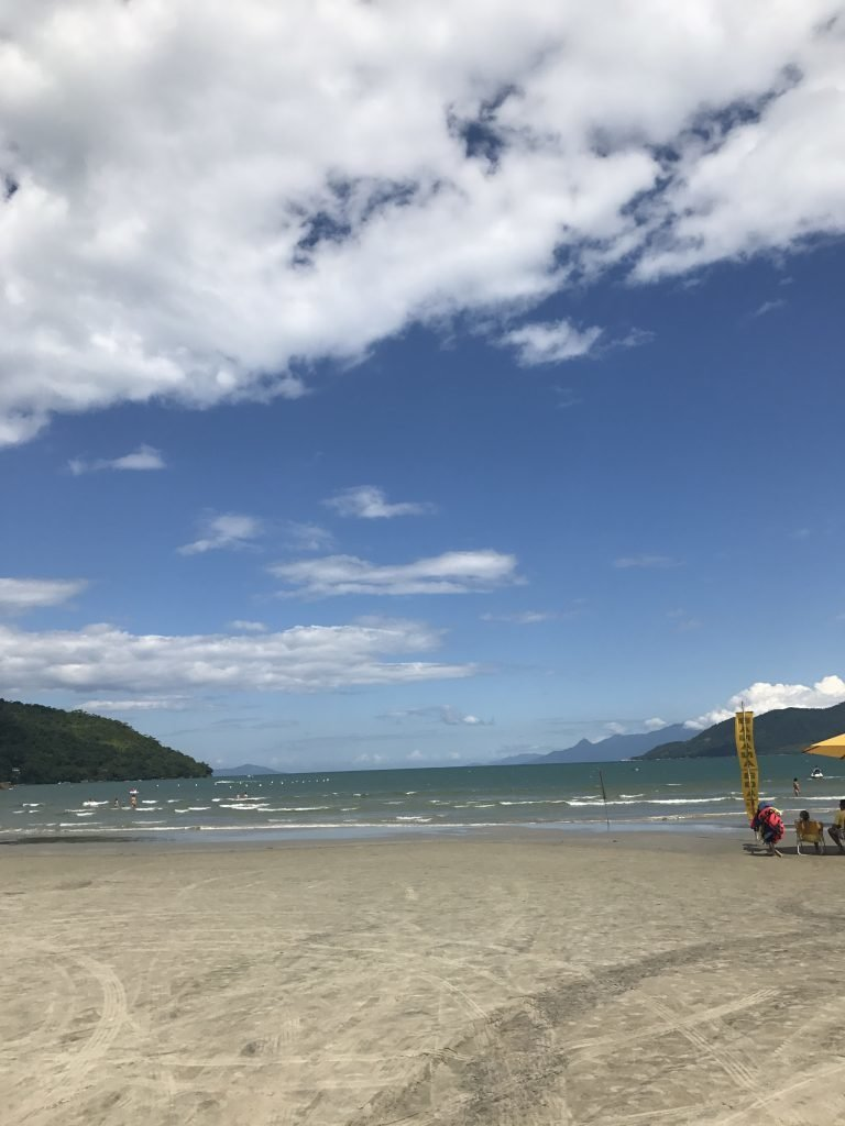Ubatuba praia no litoral norte de SP