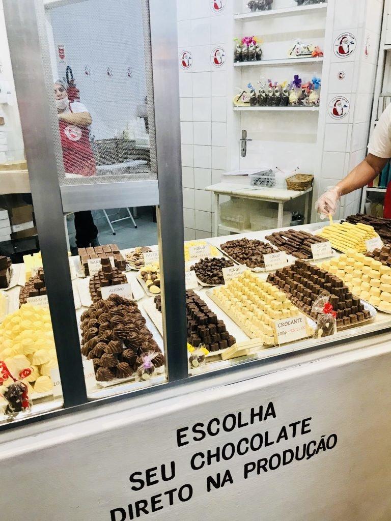 Fábricas de chocolates de Penedo - produção