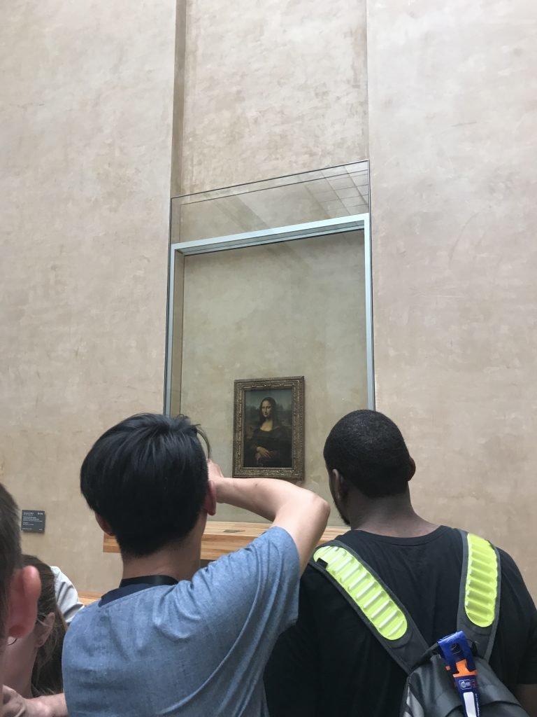 Conhecendo o museu do louvre - Monalisa