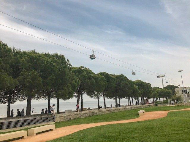 Teleférico no Parque das Nações em Lisboa