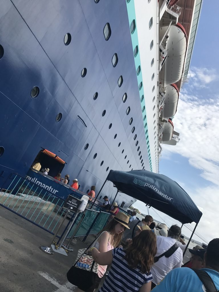 As paradas dos navios de cruzeiro