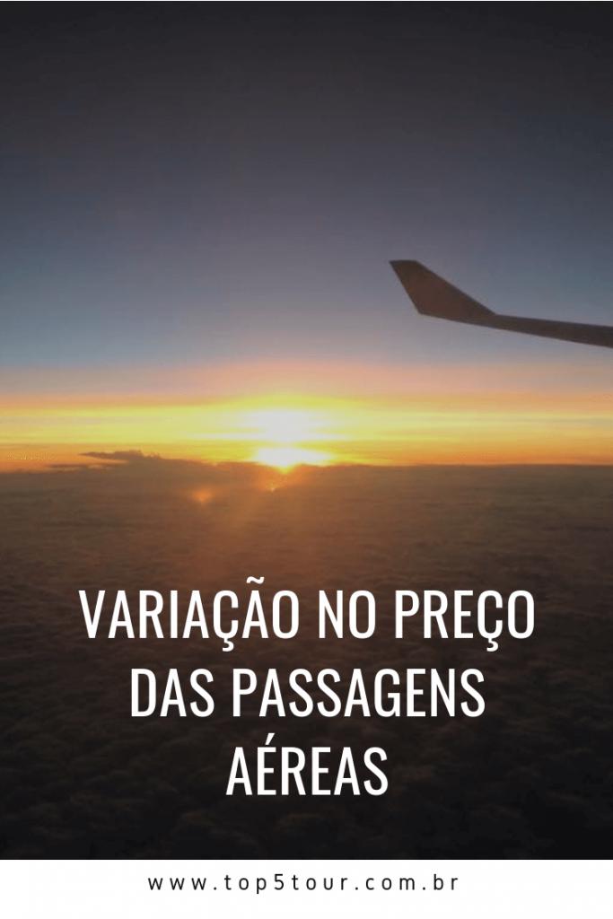 Variação No Preço Das Passagens Aéreas