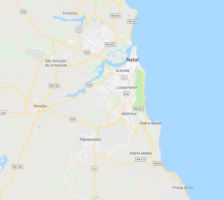 Mapa de Natal/RN