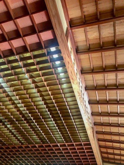 teto do pavilhão japones - cultura japonesa em São Paulo