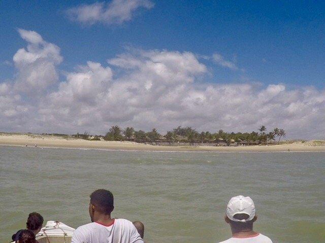 chegando na praia de maracajaú - mergulho nos parrachos de maracajaú