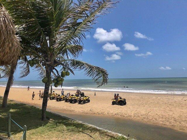 quadriciclos na praia de maracajaú - mergulho nos parrachos de maracajaú