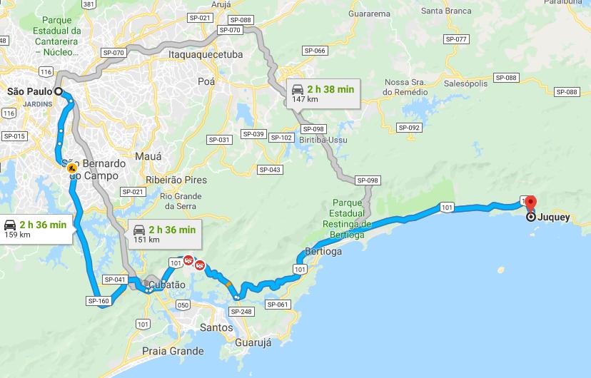 De São Paulo A Juqueí