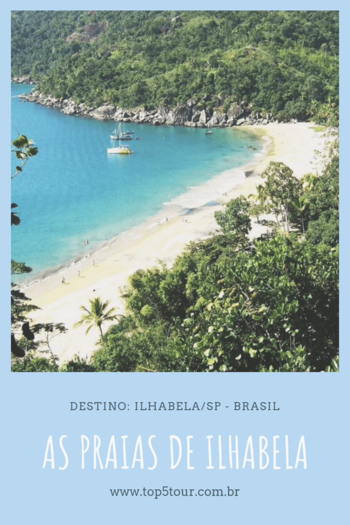 as praias de Ilhabela