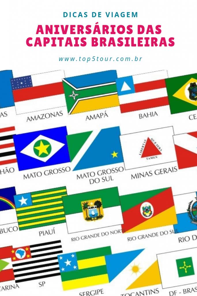 aniversário das capitais brasileiras
