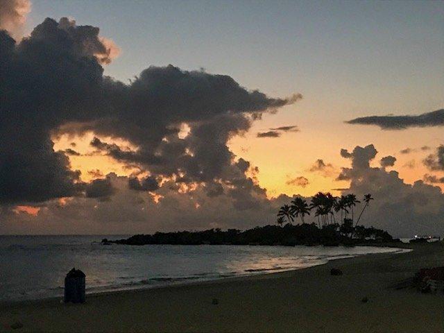 Ilha Da Saudade No Nascer Do Sol