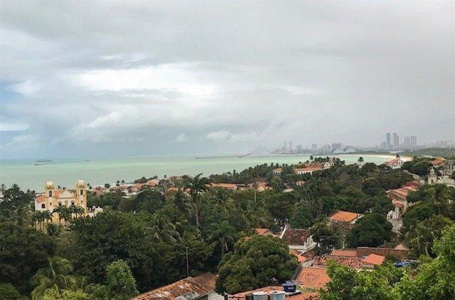 Vista De Recife E Olinda E Igreja Do Carmo
