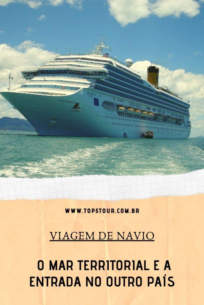O mar territorial nas viagens de navio