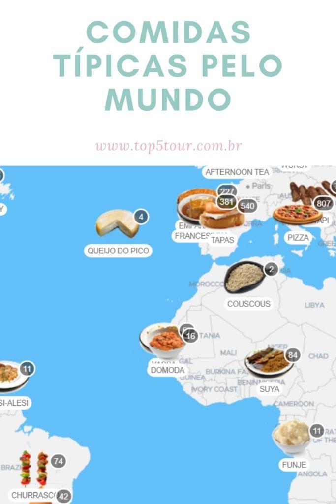 comidas típicas pelo mundo