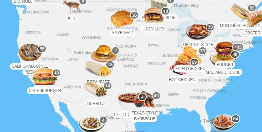 comidas tipicas estados unidos