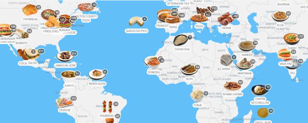 comidas tipicas pelo mundo